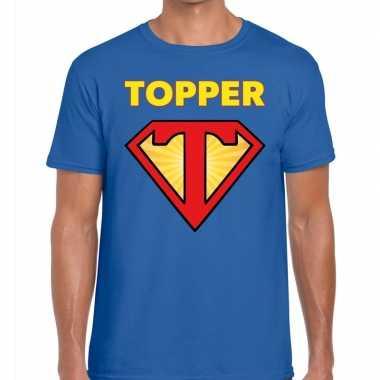 Toppers super topper logo t shirt blauw heren