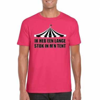 Toppers t shirt roze lange stok heren