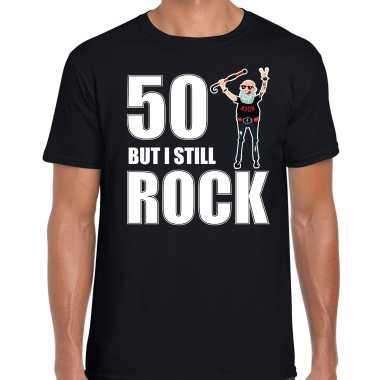 Verjaardag cadeau t shirt abraham but i still rock zwart heren