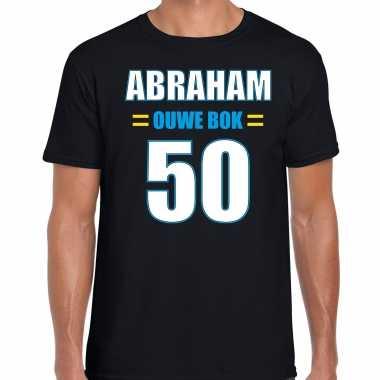 Verjaardag cadeau t shirt ouwe bok jaar abraham zwart heren