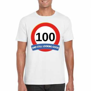 Verkeersbord jaar t-shirt wit heren 10107077
