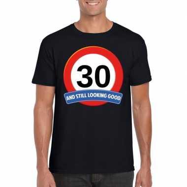 Verkeersbord jaar t-shirt zwart heren 10107003