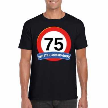 Verkeersbord jaar t-shirt zwart heren 10107045
