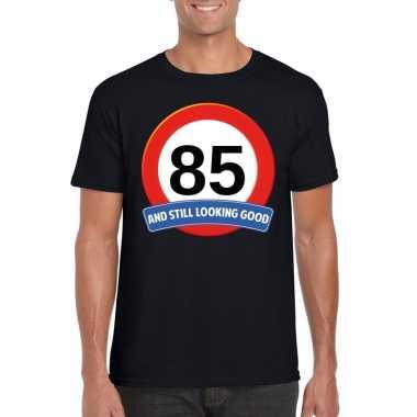 Verkeersbord jaar t-shirt zwart heren 10107049