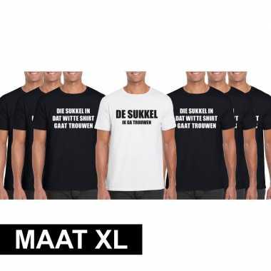 Vrijgezellenfeest heren t shirt pakket sukkel maat xl