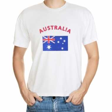 Wit heren t shirt australie