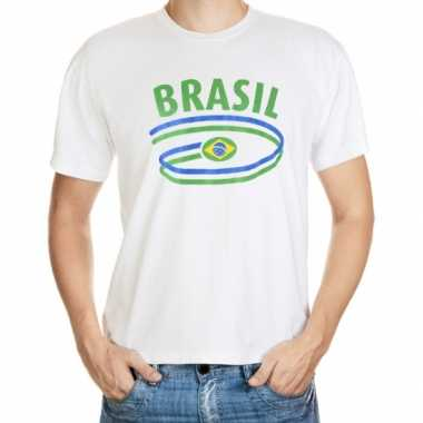 Wit heren t shirt brazilie