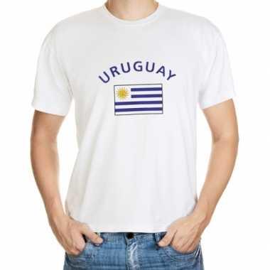 Wit heren t shirt uruguay