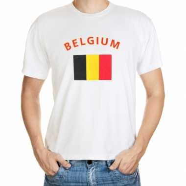 Wit t shirt belgie heren