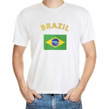 Wit t shirt brazilie heren