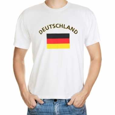 Wit t shirt duitsland heren