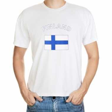 Wit t shirt finland heren