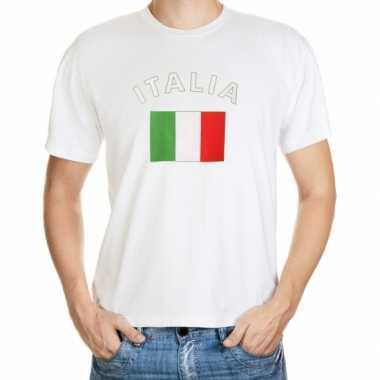 Wit t shirt italie heren
