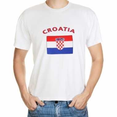 Wit t shirt kroatie heren