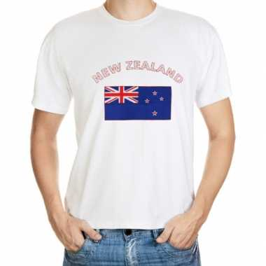 Wit t shirt nieuw zeeland heren