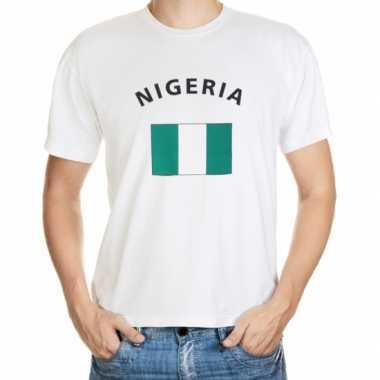 Wit t shirt nigeria heren