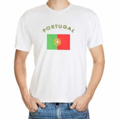 Wit t shirt portugal heren