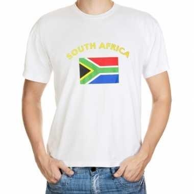 Wit t shirt zuid afrika heren