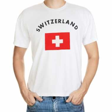Wit t shirt zwitserland heren