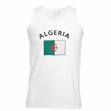Witte heren tanktop algerije shirt