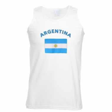 Witte heren tanktop argentinie shirt