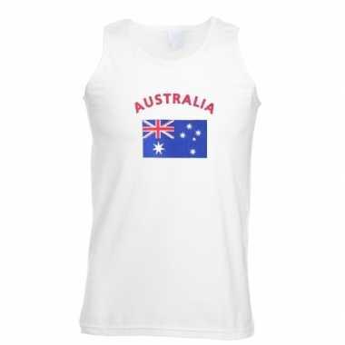 Witte heren tanktop australie shirt