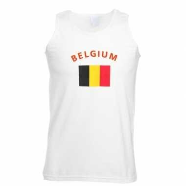 Witte heren tanktop belgie shirt