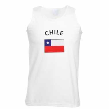 Witte heren tanktop chili shirt