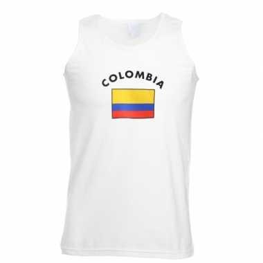 Witte heren tanktop colombia shirt