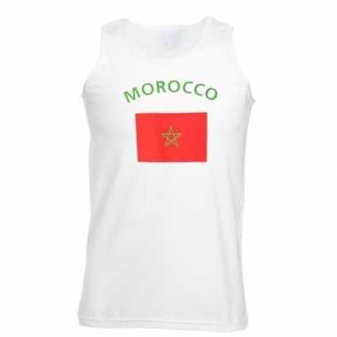Witte heren tanktop marokko shirt