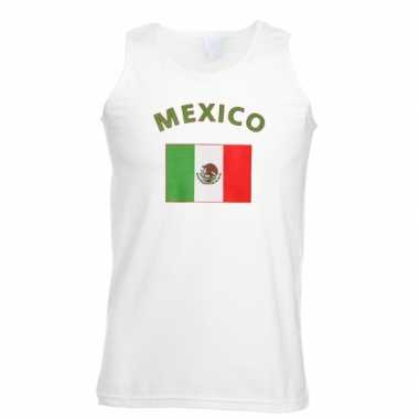 Witte heren tanktop mexico shirt
