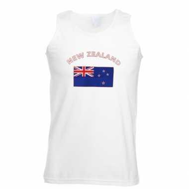 Witte heren tanktop nieuw zeeland shirt