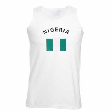 Witte heren tanktop nigeria shirt