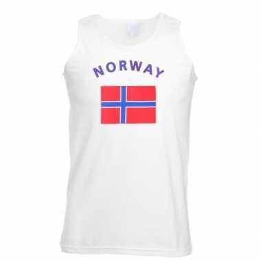 Witte heren tanktop noorwegen shirt