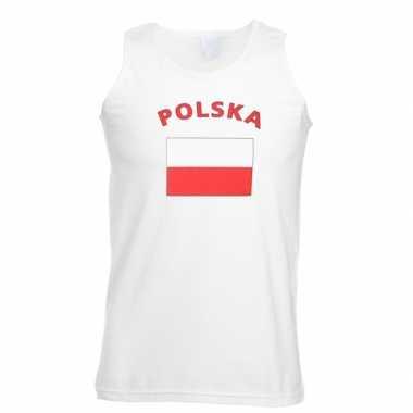 Witte heren tanktop polen shirt