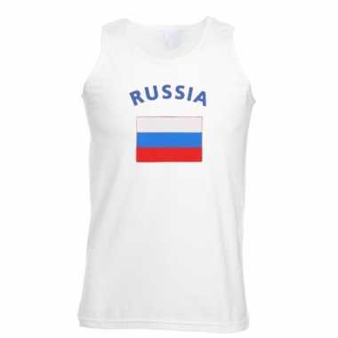 Witte heren tanktop rusland shirt