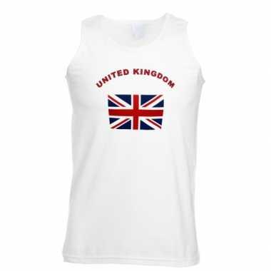 Witte heren tanktop united kingdom shirt