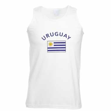 Witte heren tanktop uruguay shirt