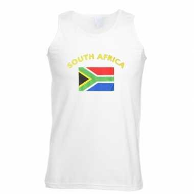 Witte heren tanktop zuid afrika shirt