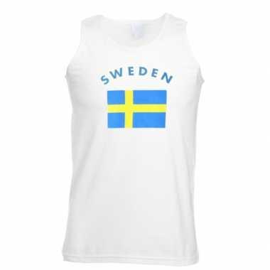 Witte heren tanktop zweden shirt