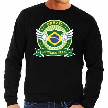 Zwart brazil drinking team sweater heren shirt