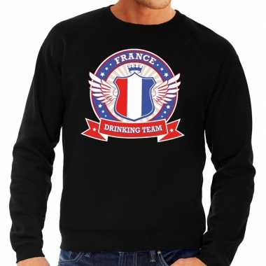 Zwart france drinking team sweater heren shirt