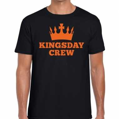 Zwart kingsday crew t shirt heren
