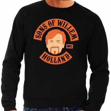 Zwart sons of willem sweater heren shirt