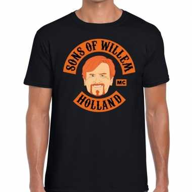 Zwart sons of willem t shirt heren