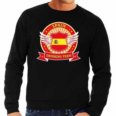 Zwart spain drinking team sweater heren shirt
