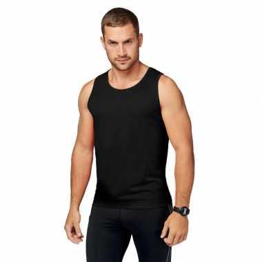 Zwart sport singlet heren shirt