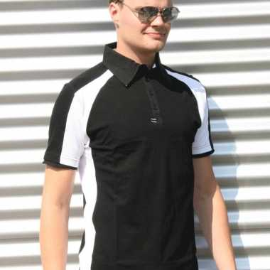 Zwarte malibu polo heren shirt