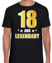 And legendary verjaardag cadeau t-shirt goud jaar zwart heren 10232728