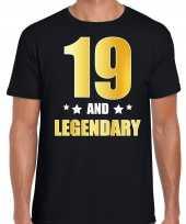 And legendary verjaardag cadeau t-shirt goud jaar zwart heren 10232729
